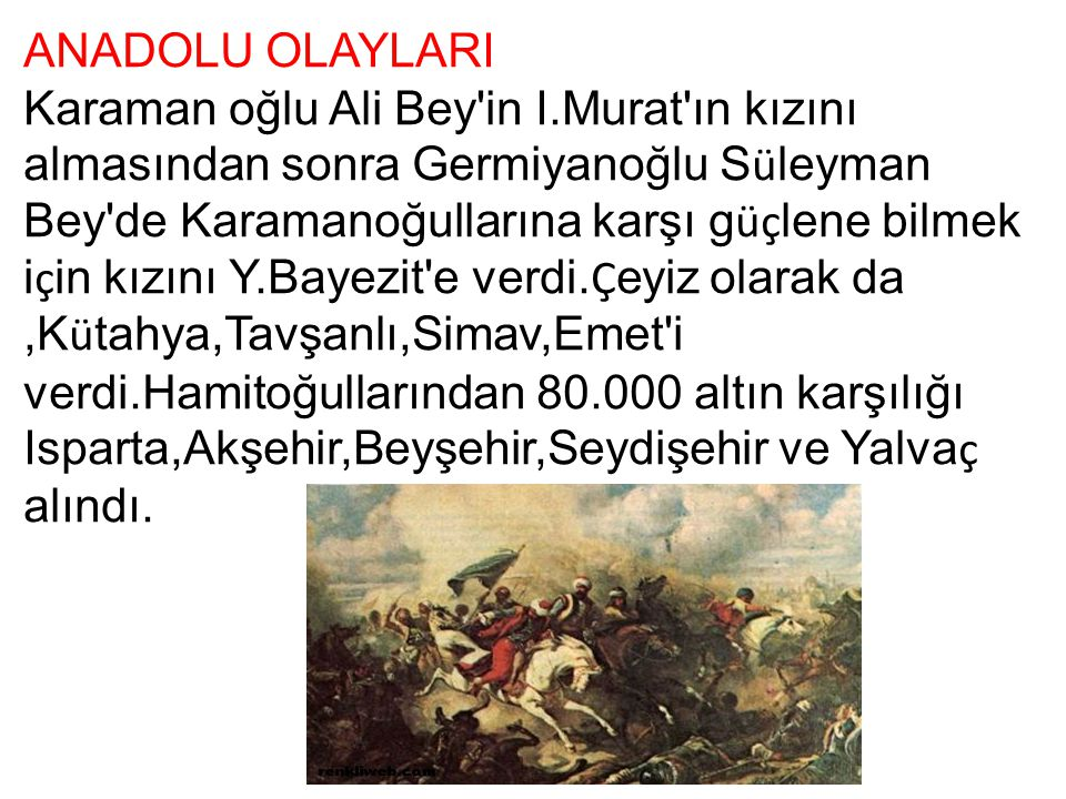 ANADOLU OLAYLARI