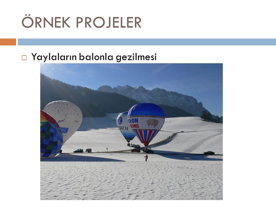 ÖRNEK PROJELER Yaylaların balonla gezilmesi
