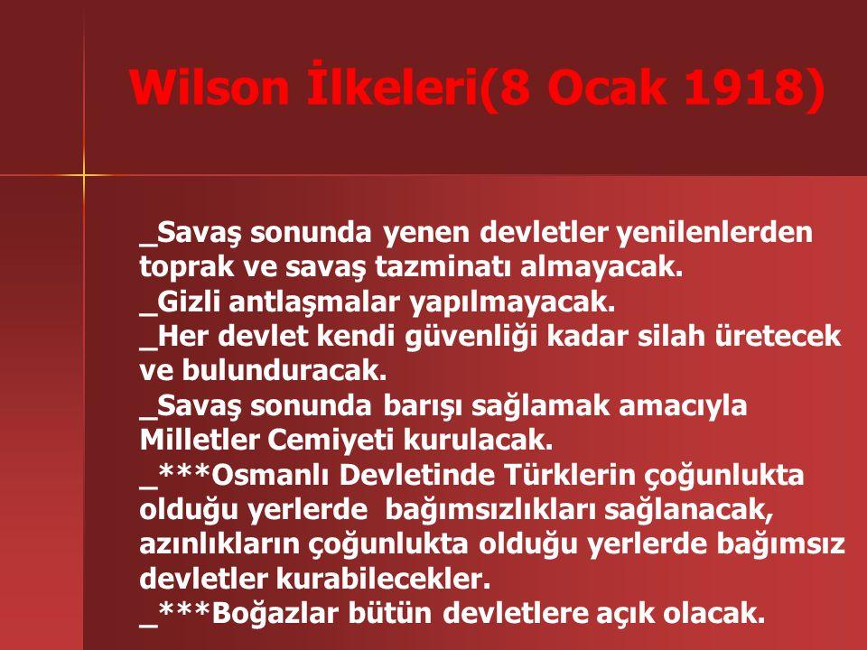 Wilson İlkeleri(8 Ocak 1918)