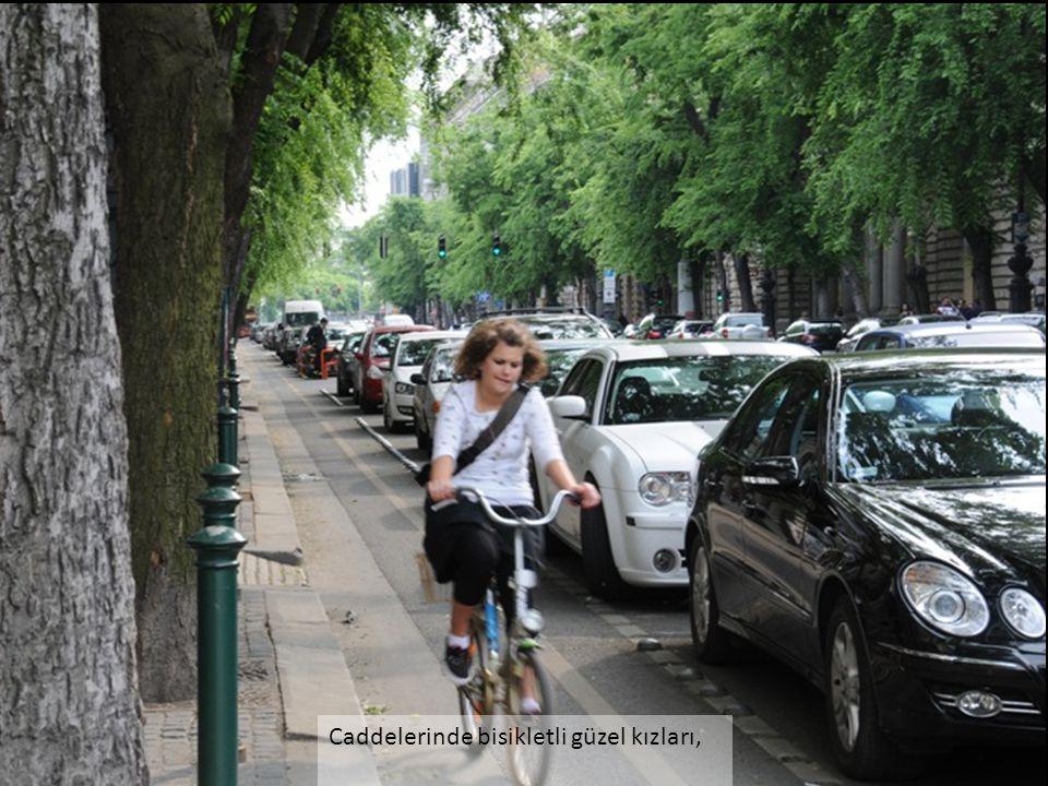 Caddelerinde bisikletli güzel kızları,