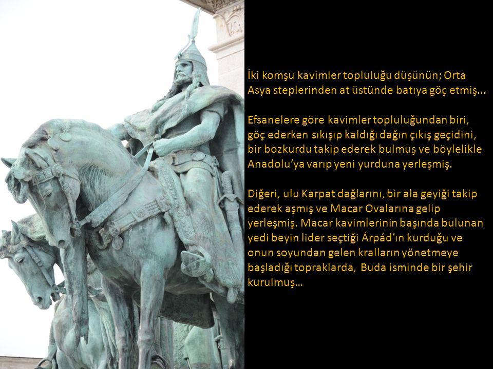 İki komşu kavimler topluluğu düşünün; Orta Asya steplerinden at üstünde batıya göç etmiş...