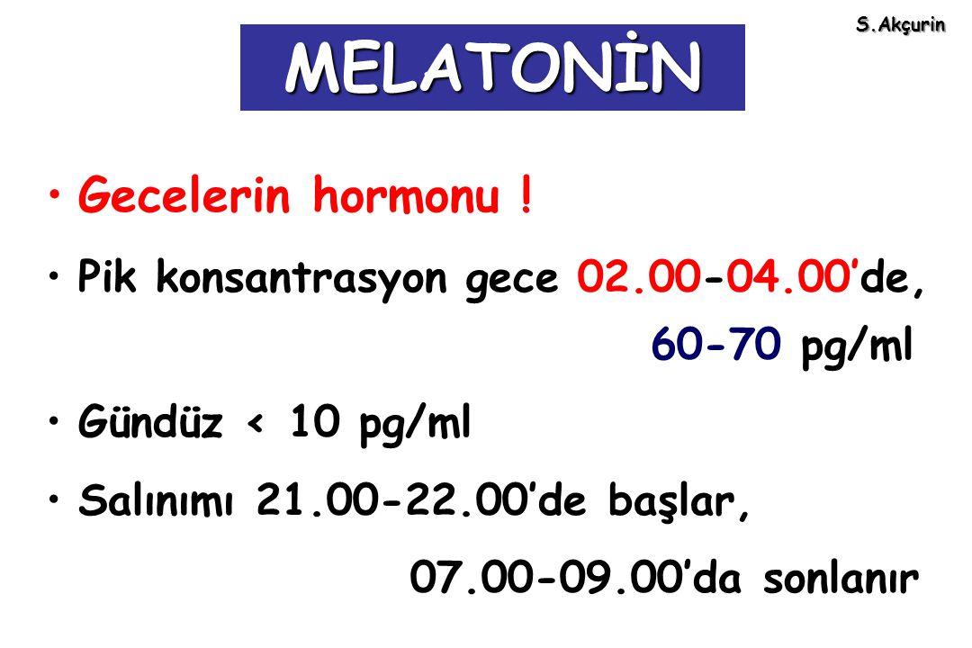 MELATONİN Gecelerin hormonu !
