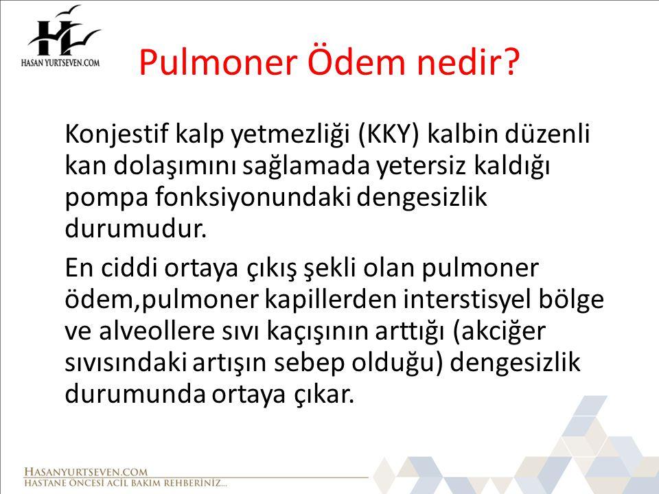 Pulmoner Ödem nedir