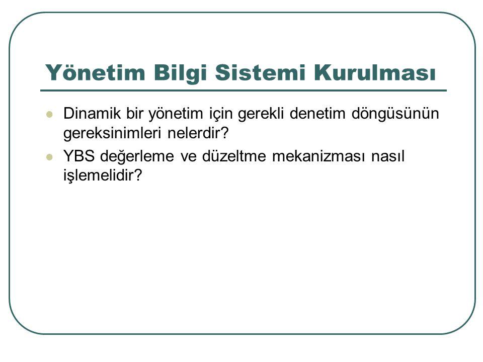 Yönetim Bilgi Sistemi Kurulması