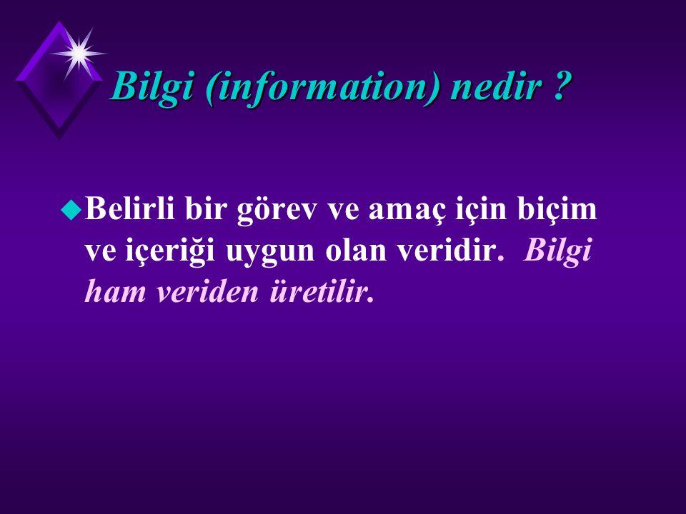 Bilgi (information) nedir