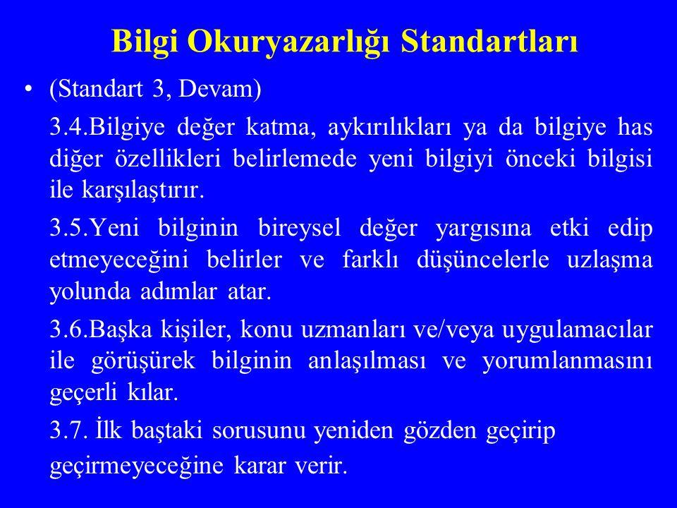 Bilgi Okuryazarlığı Standartları