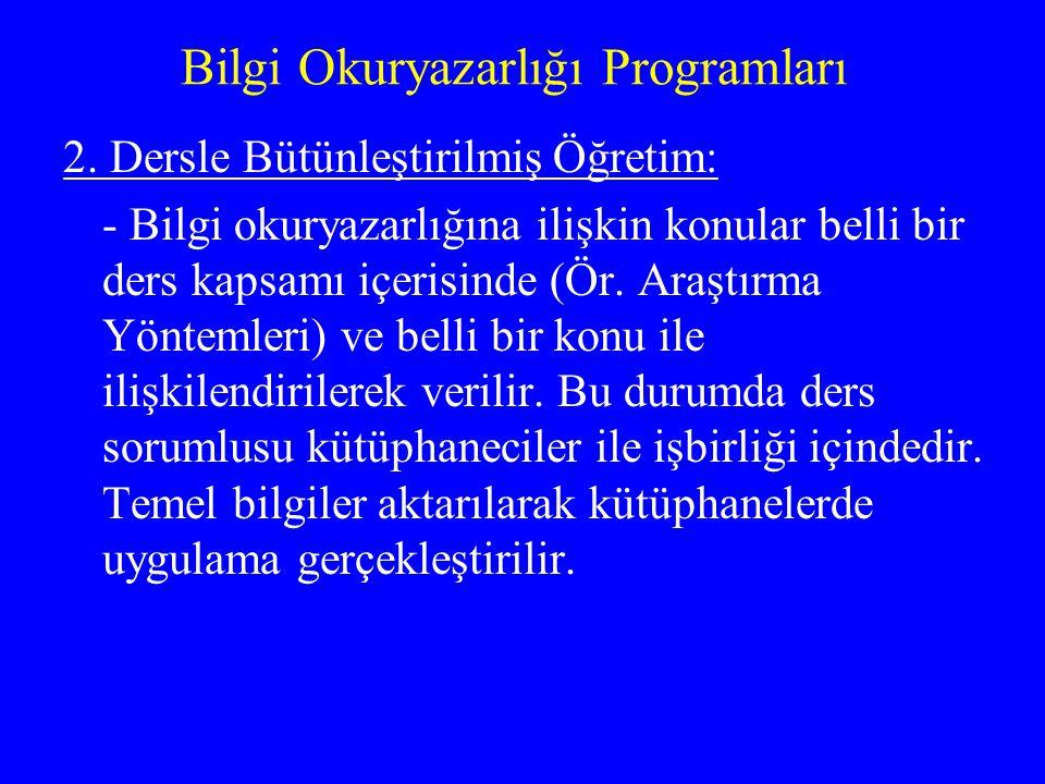 Bilgi Okuryazarlığı Programları