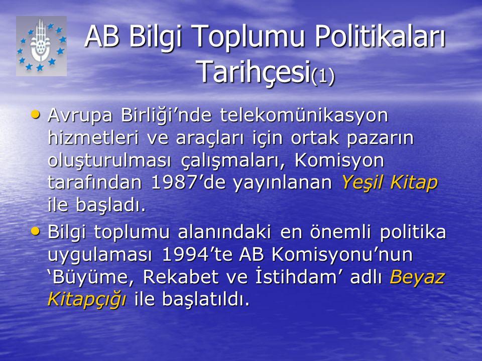 AB Bilgi Toplumu Politikaları Tarihçesi(1)