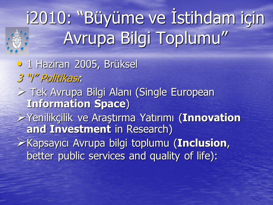 i2010: Büyüme ve İstihdam için Avrupa Bilgi Toplumu