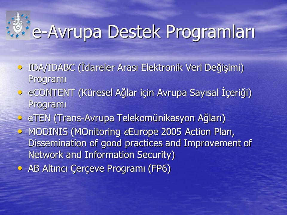 e-Avrupa Destek Programları