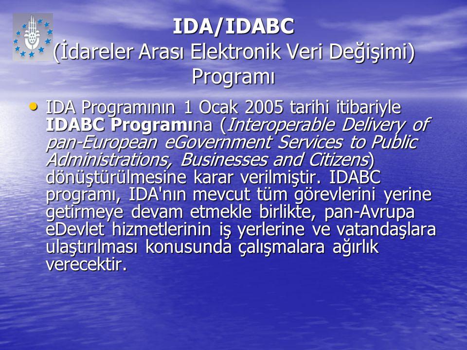 IDA/IDABC (İdareler Arası Elektronik Veri Değişimi) Programı