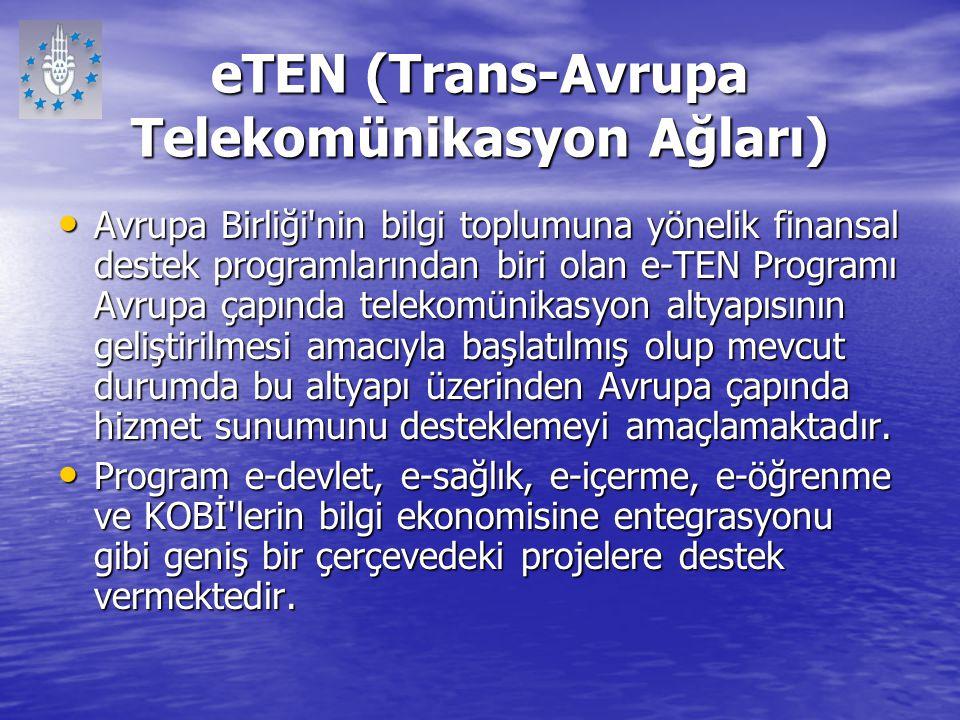 eTEN (Trans-Avrupa Telekomünikasyon Ağları)