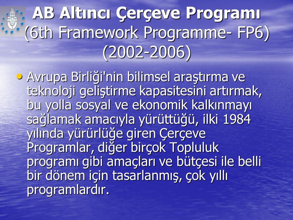 AB Altıncı Çerçeve Programı (6th Framework Programme- FP6) (2002-2006)