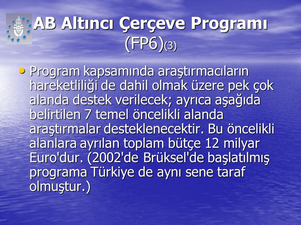 AB Altıncı Çerçeve Programı (FP6)(3)