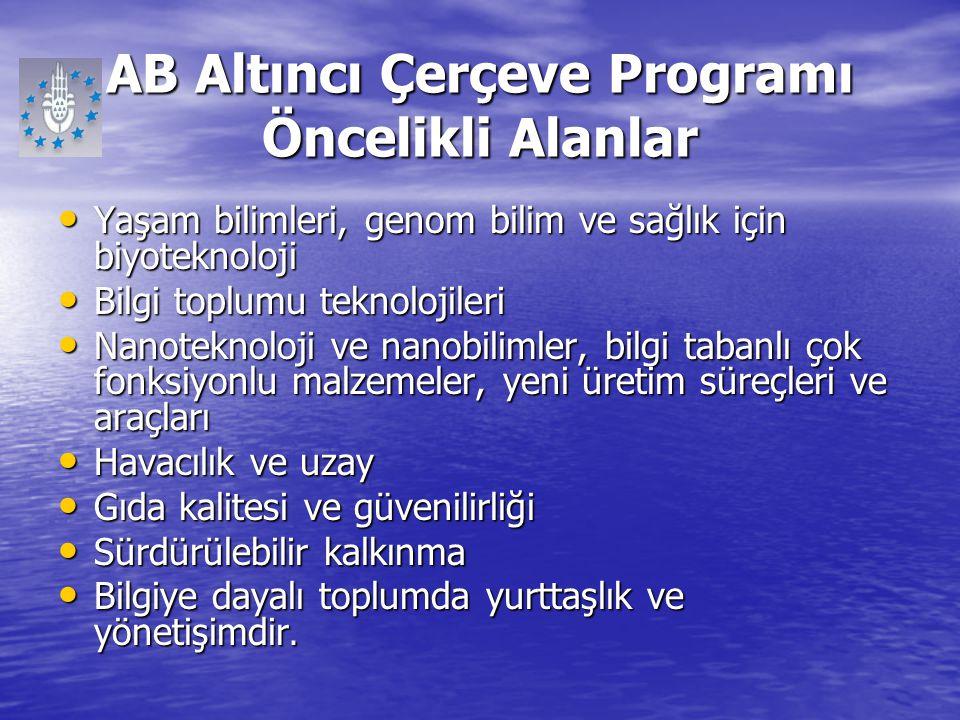 AB Altıncı Çerçeve Programı Öncelikli Alanlar