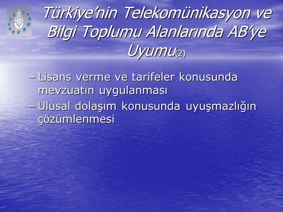 Türkiye'nin Telekomünikasyon ve Bilgi Toplumu Alanlarında AB'ye Uyumu(2)