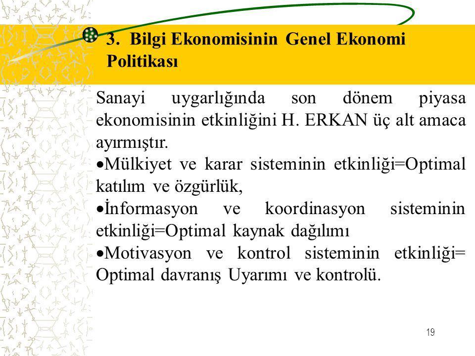 3. Bilgi Ekonomisinin Genel Ekonomi Politikası