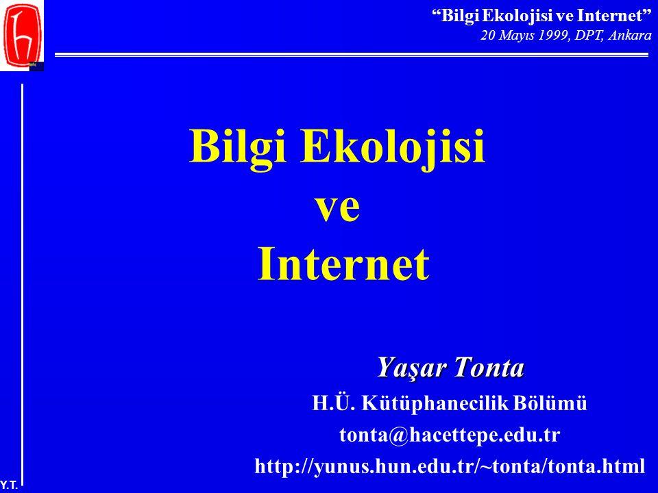 Bilgi Ekolojisi ve Internet