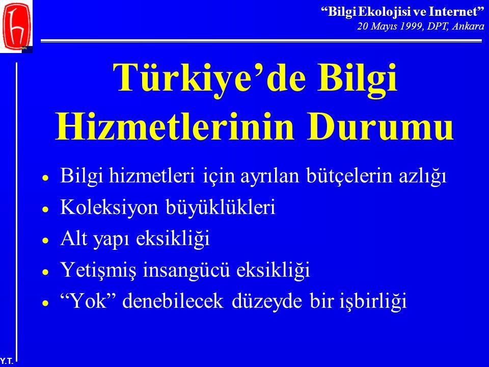 Türkiye'de Bilgi Hizmetlerinin Durumu