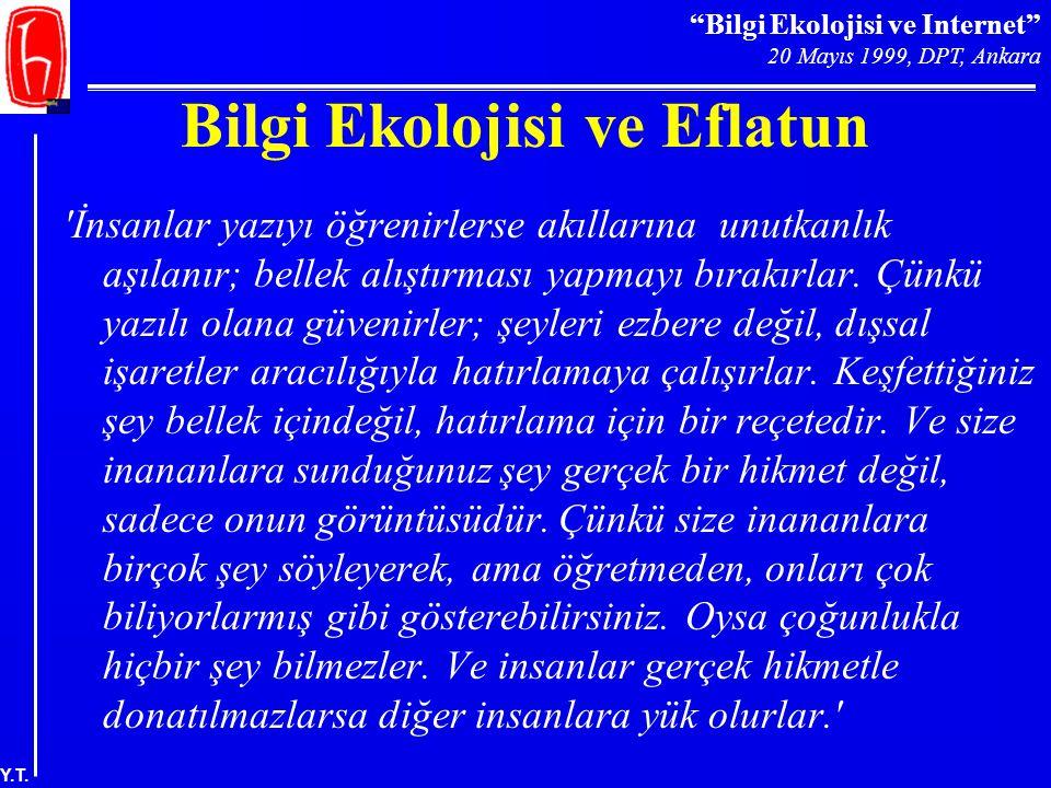 Bilgi Ekolojisi ve Eflatun