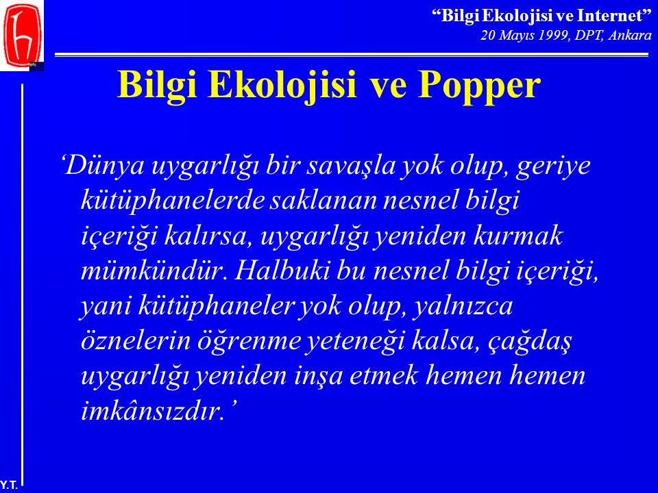 Bilgi Ekolojisi ve Popper