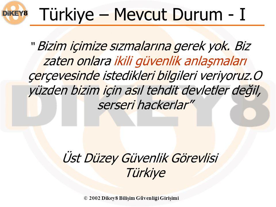Türkiye – Mevcut Durum - I