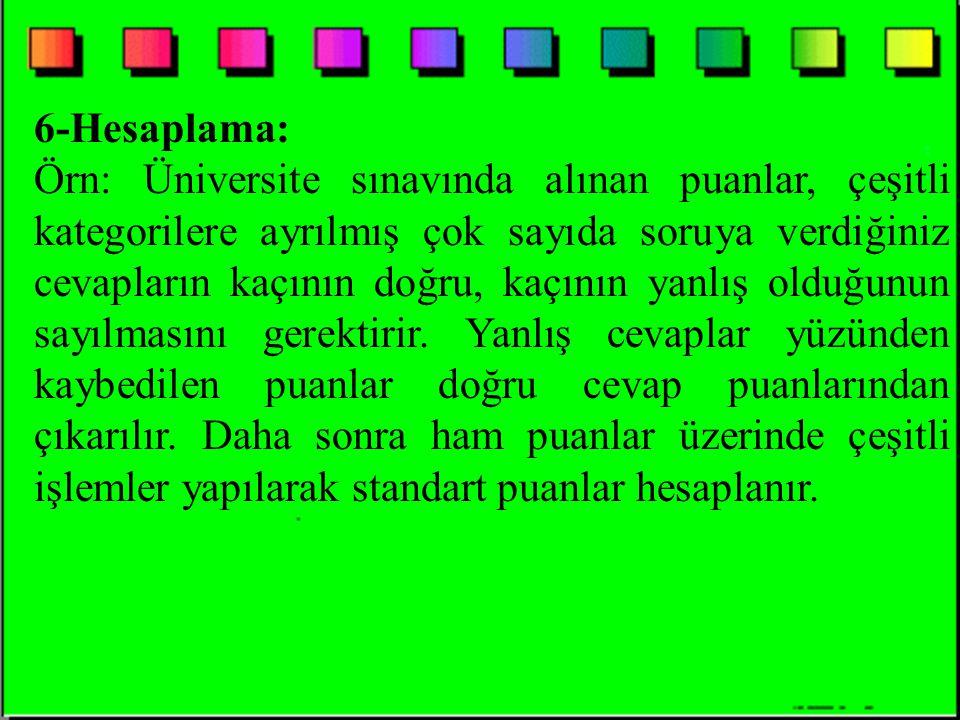 6-Hesaplama:
