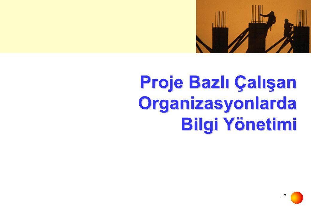Proje Bazlı Çalışan Organizasyonlarda Bilgi Yönetimi