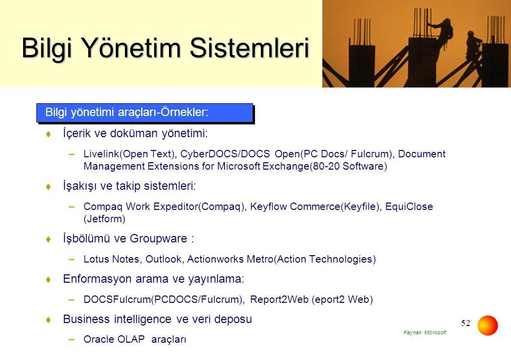 Bilgi Yönetim Sistemleri