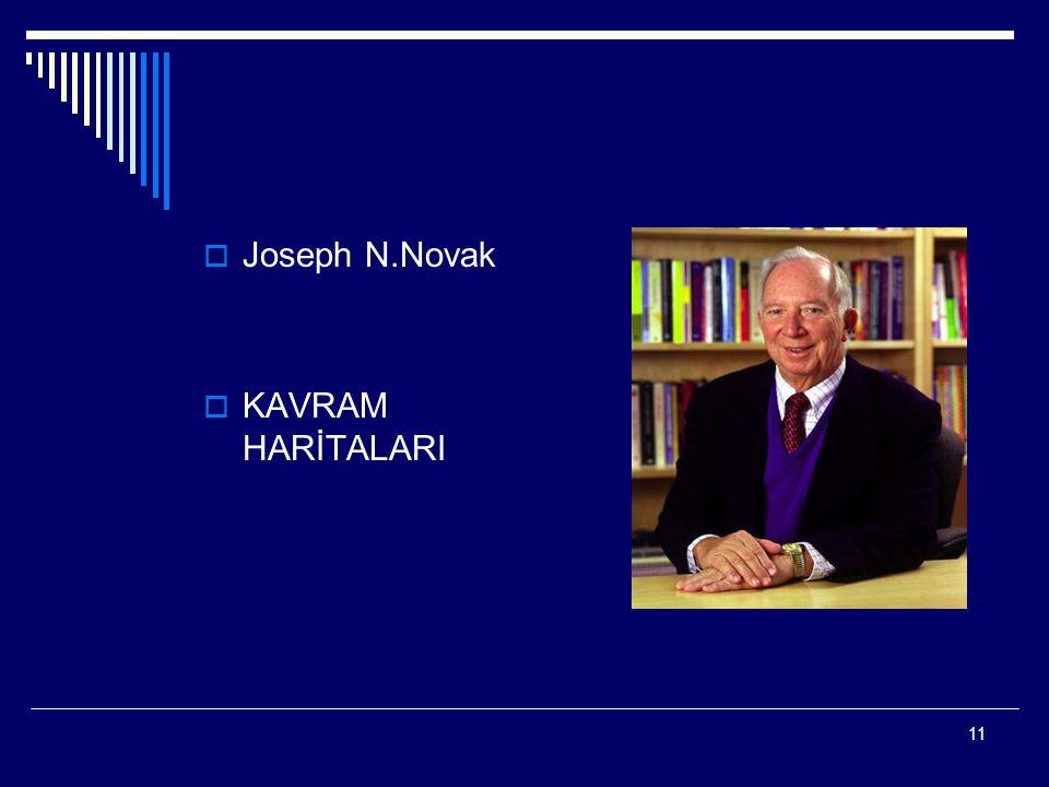 Joseph N.Novak KAVRAM HARİTALARI