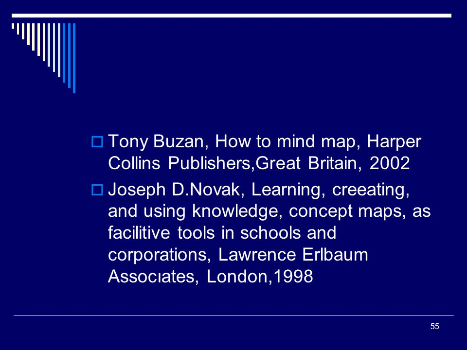 Tony Buzan, How to mind map, Harper Collins Publishers,Great Britain, 2002