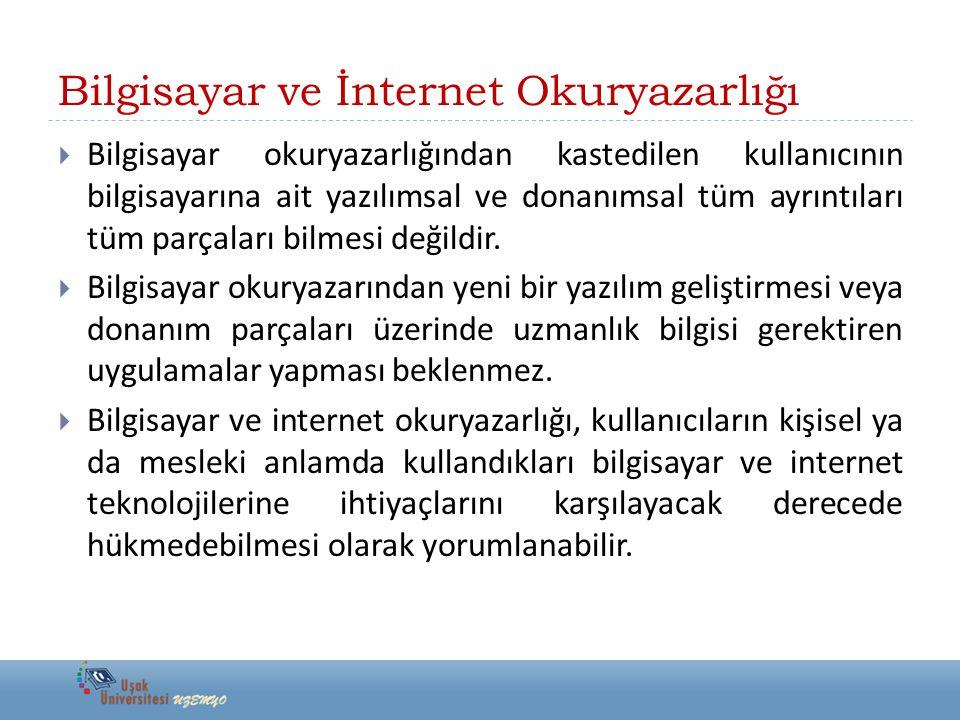 Bilgisayar ve İnternet Okuryazarlığı