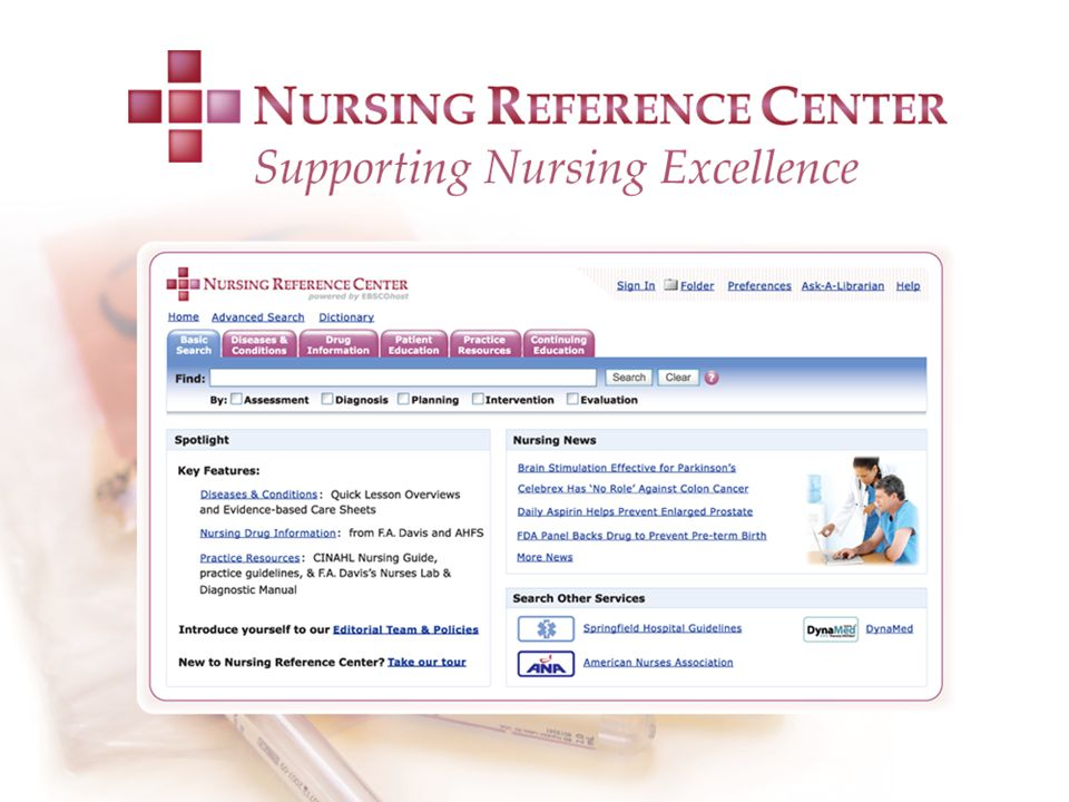 The NRC homepage is nurse-friendly and easy to use.