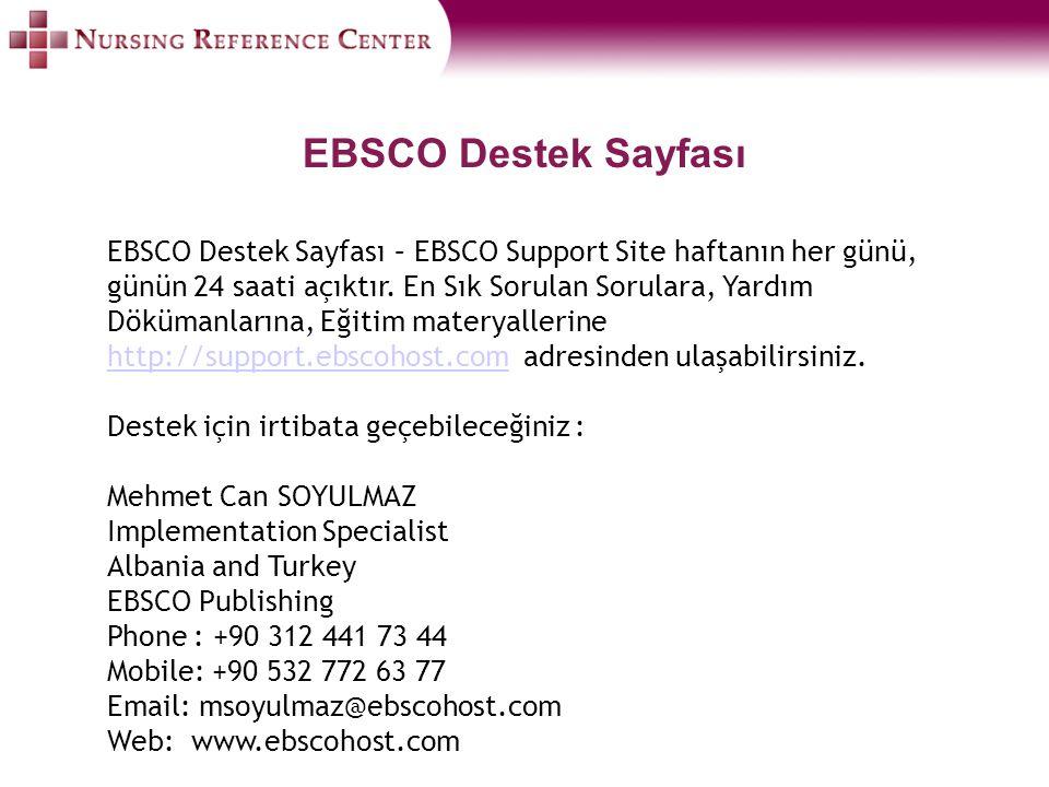 EBSCO Destek Sayfası