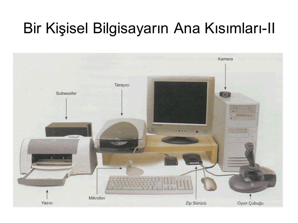 Bir Kişisel Bilgisayarın Ana Kısımları-II