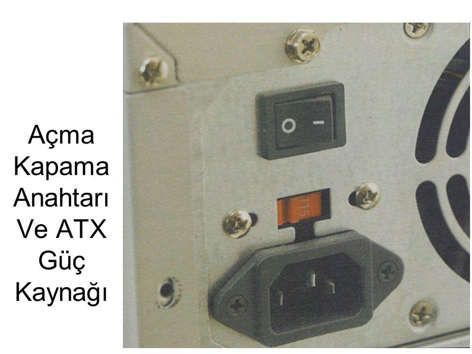 Açma Kapama Anahtarı Ve ATX Güç Kaynağı