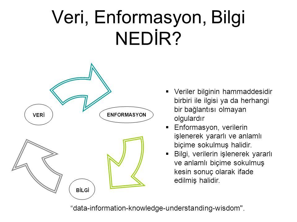 Veri, Enformasyon, Bilgi NEDİR