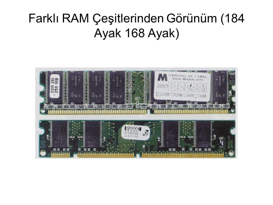 Farklı RAM Çeşitlerinden Görünüm (184 Ayak 168 Ayak)