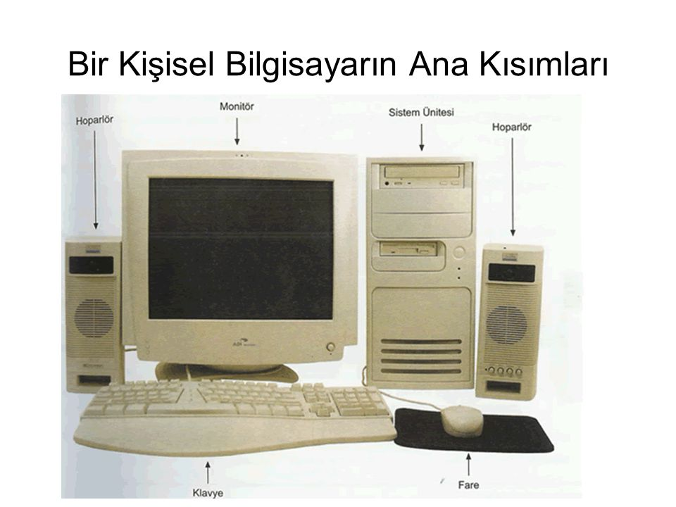 Bir Kişisel Bilgisayarın Ana Kısımları