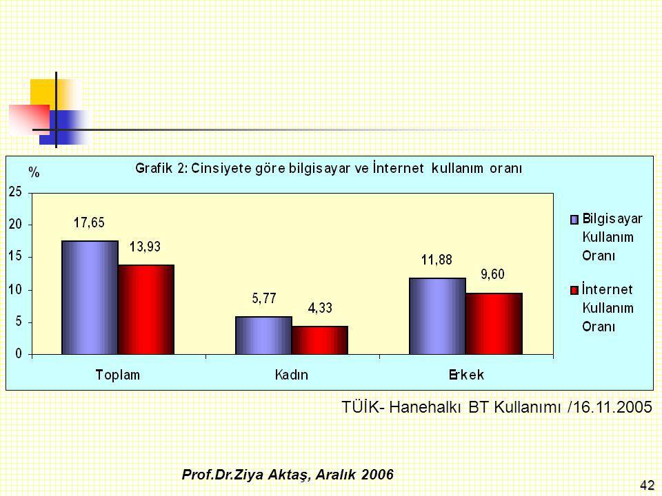TÜİK- Hanehalkı BT Kullanımı /16.11.2005