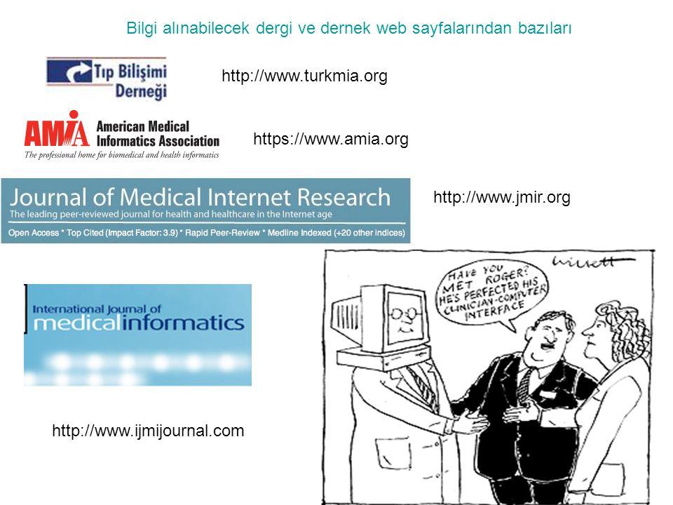Bilgi alınabilecek dergi ve dernek web sayfalarından bazıları