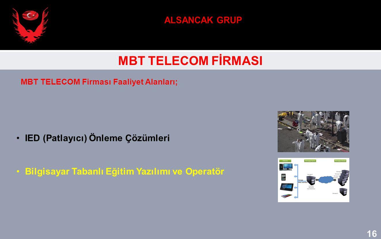 ALSANCAK GRUP MBT TELECOM FİRMASI IED (Patlayıcı) Önleme Çözümleri