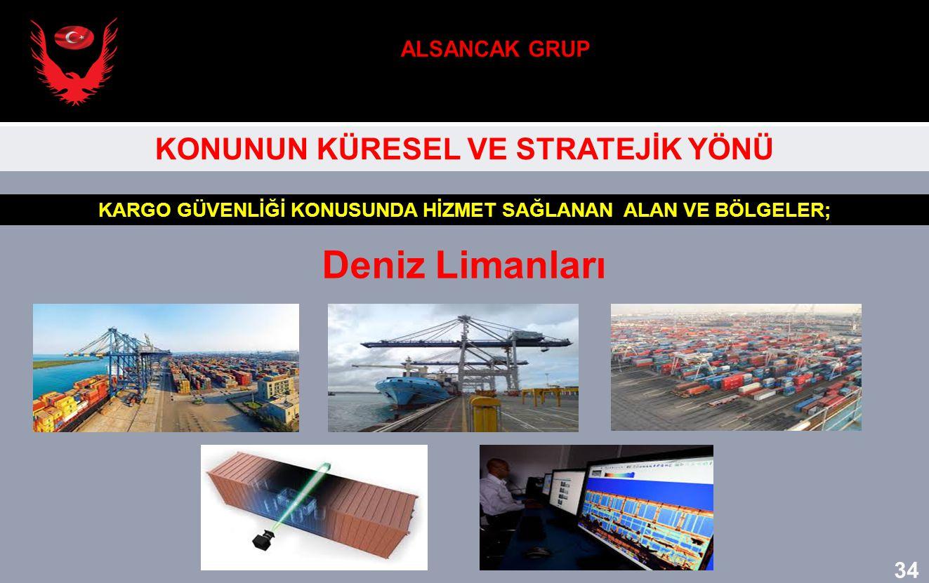 Deniz Limanları ALSANCAK GRUP KONUNUN KÜRESEL VE STRATEJİK YÖNÜ 34