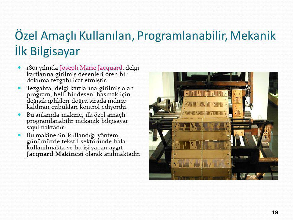 Özel Amaçlı Kullanılan, Programlanabilir, Mekanik İlk Bilgisayar