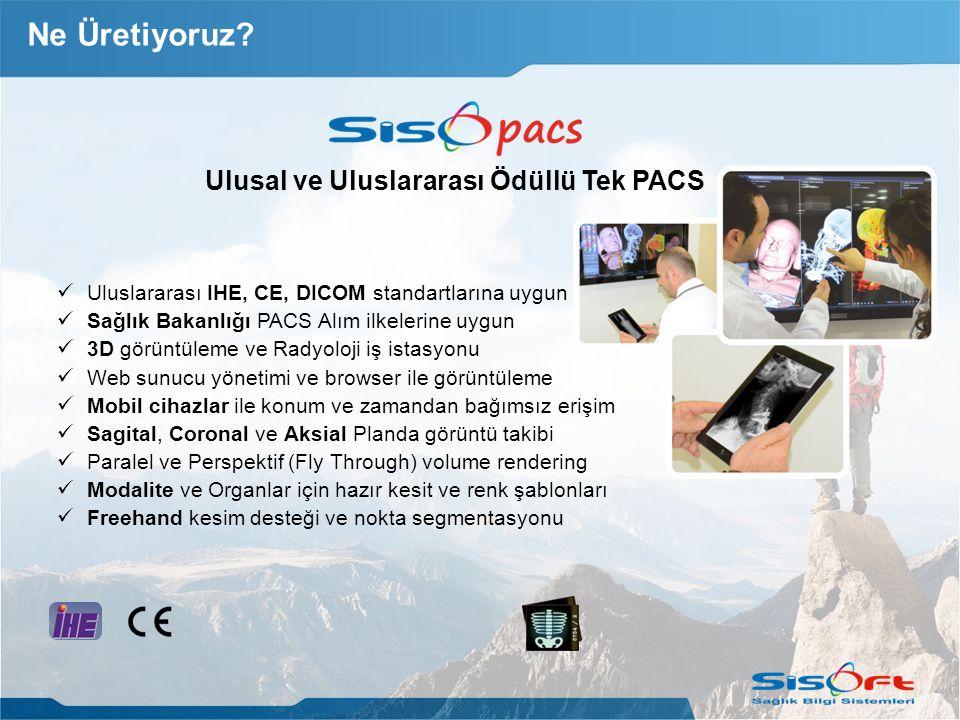 Ulusal ve Uluslararası Ödüllü Tek PACS