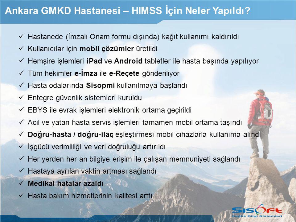 Ankara GMKD Hastanesi – HIMSS İçin Neler Yapıldı
