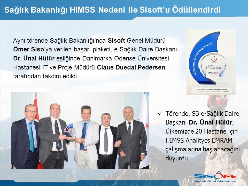 Sağlık Bakanlığı HIMSS Nedeni ile Sisoft'u Ödüllendirdi