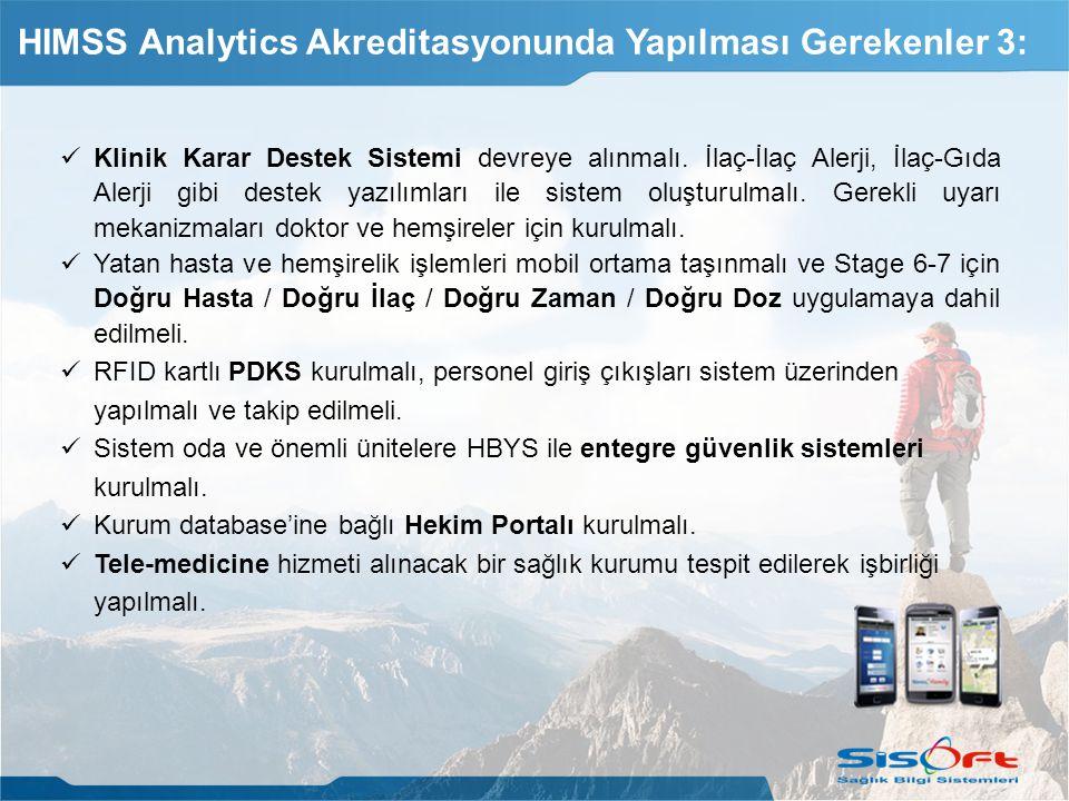 HIMSS Analytics Akreditasyonunda Yapılması Gerekenler 3: