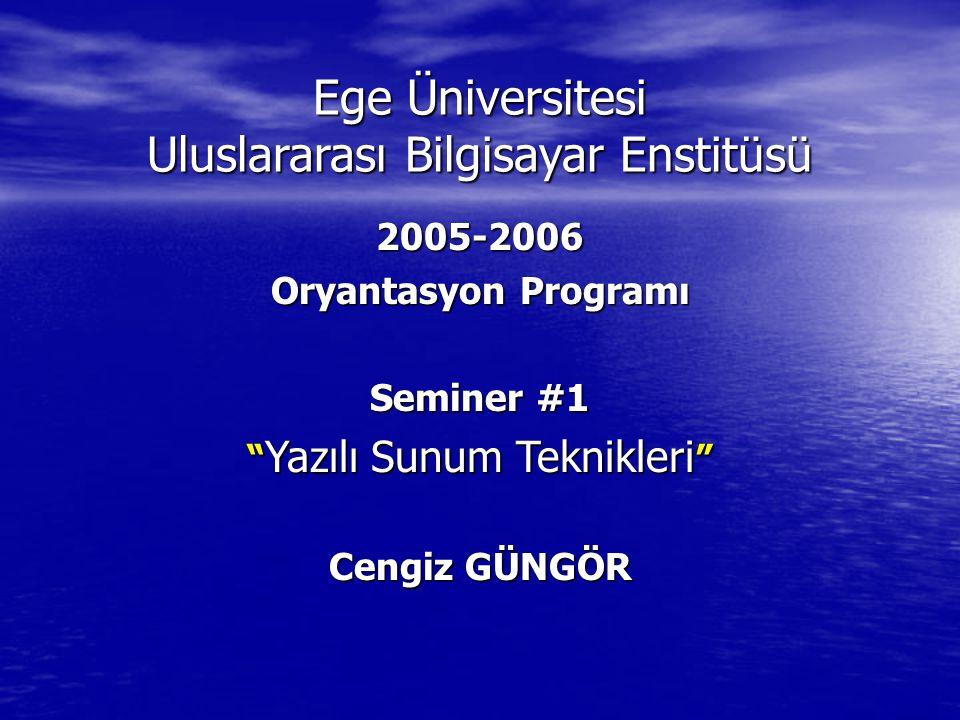 Ege Üniversitesi Uluslararası Bilgisayar Enstitüsü