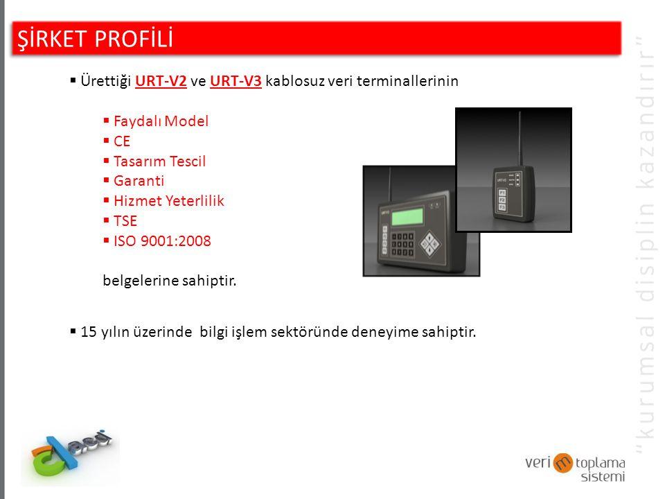 ŞİRKET PROFİLİ Ürettiği URT-V2 ve URT-V3 kablosuz veri terminallerinin